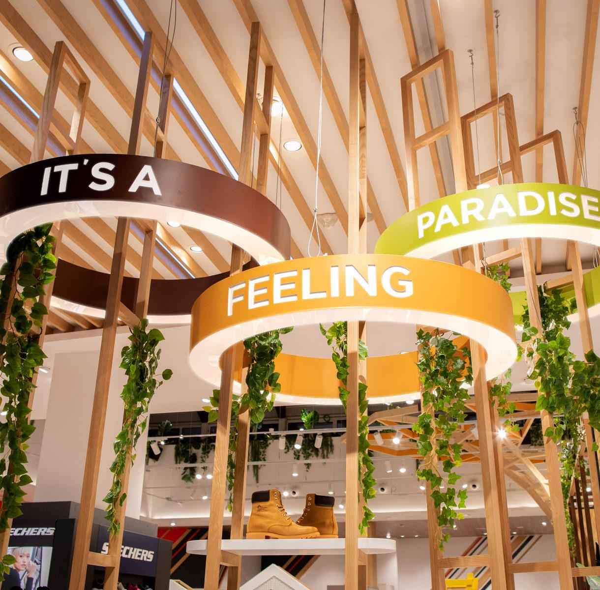 Ambientación inspirada en el Paraíso y la Diversión. Mostazadesign